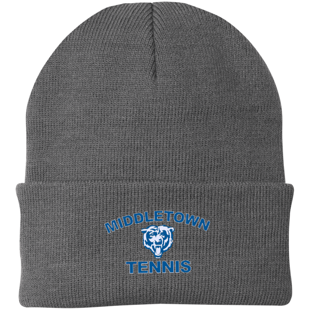 Knit Winter Hat - Middletown Tennis - Bear Logo