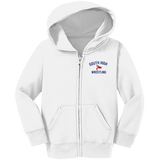 Wrestling Vector Logo v2 Outline_Pantone CAR78TZH Precious Cargo Toddler Full Zip Hoodie