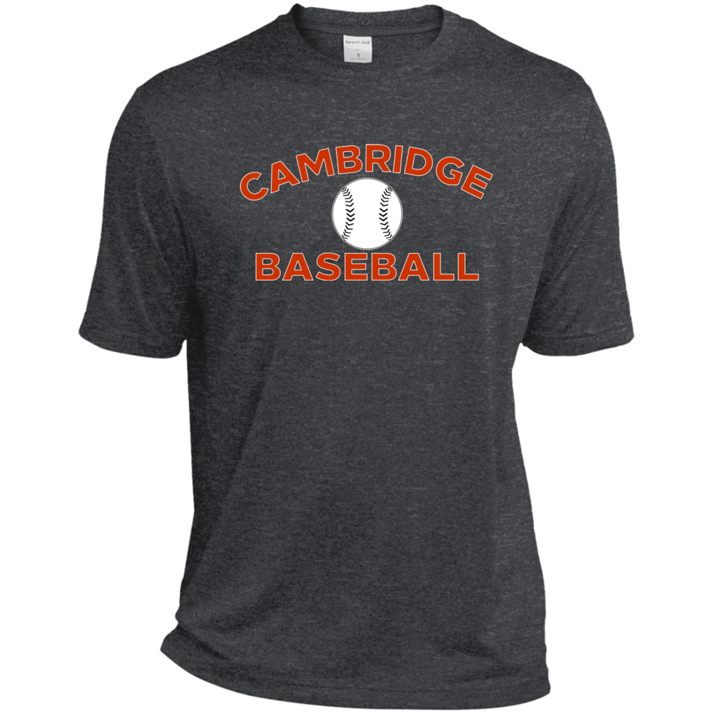 Men's Heather Moisture Wicking T-Shirt - Cambridge Baseball