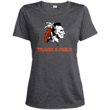 Women's Heather Moisture Wicking T-Shirt - Cambridge Track & Field - Indian Logo