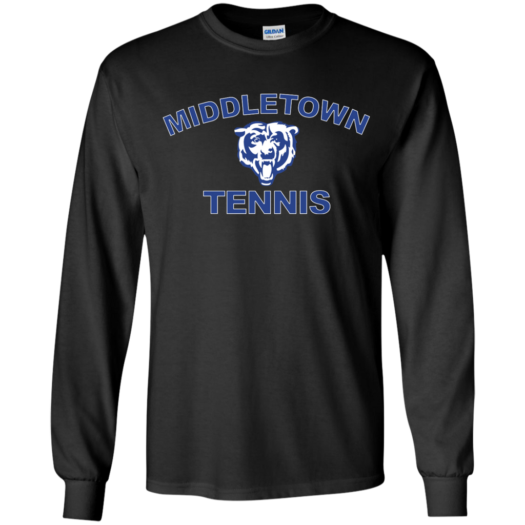 Youth Long Sleeve T-Shirt - Middletown Tennis - Bear Logo