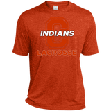 Men's Heather Moisture Wicking T-Shirt - Cambridge Lacrosse - C Logo