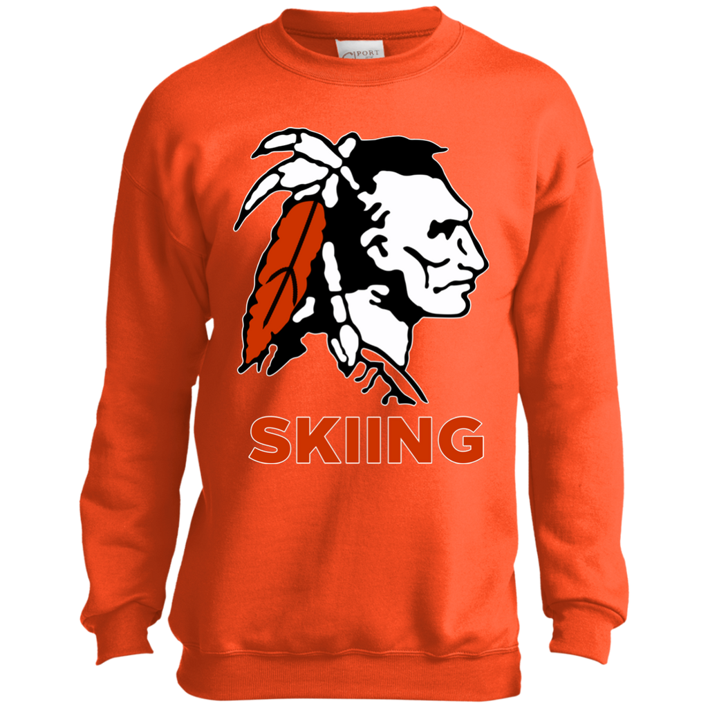 Youth Crewneck Sweatshirt - Cambridge Skiing - Indian Logo