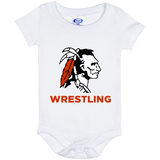 Baby Onesie 6 Month - Cambridge Wrestling - Indian Logo