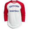 3/4 Sleeve Baseball T-Shirt - South Glens Falls Basketball