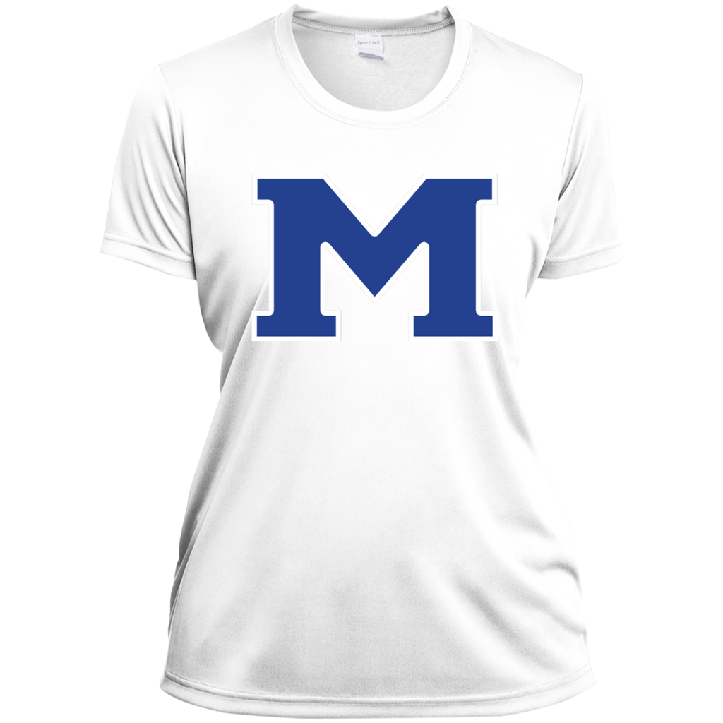 "Women's Moisture Wicking T-Shirt - Middletown Block ""M"""
