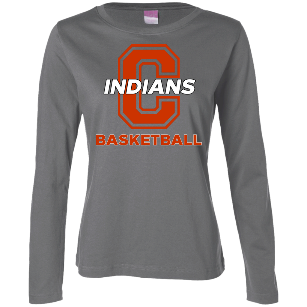Women's Long Sleeve T-Shirt - Cambridge Basketball - C Logo