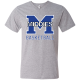 Men's V-Neck T-Shirt - Middletown Girls Basketball