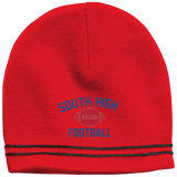 Football Vector Logo Outline_Pantone STC20 Sport-Tek Colorblock Beanie