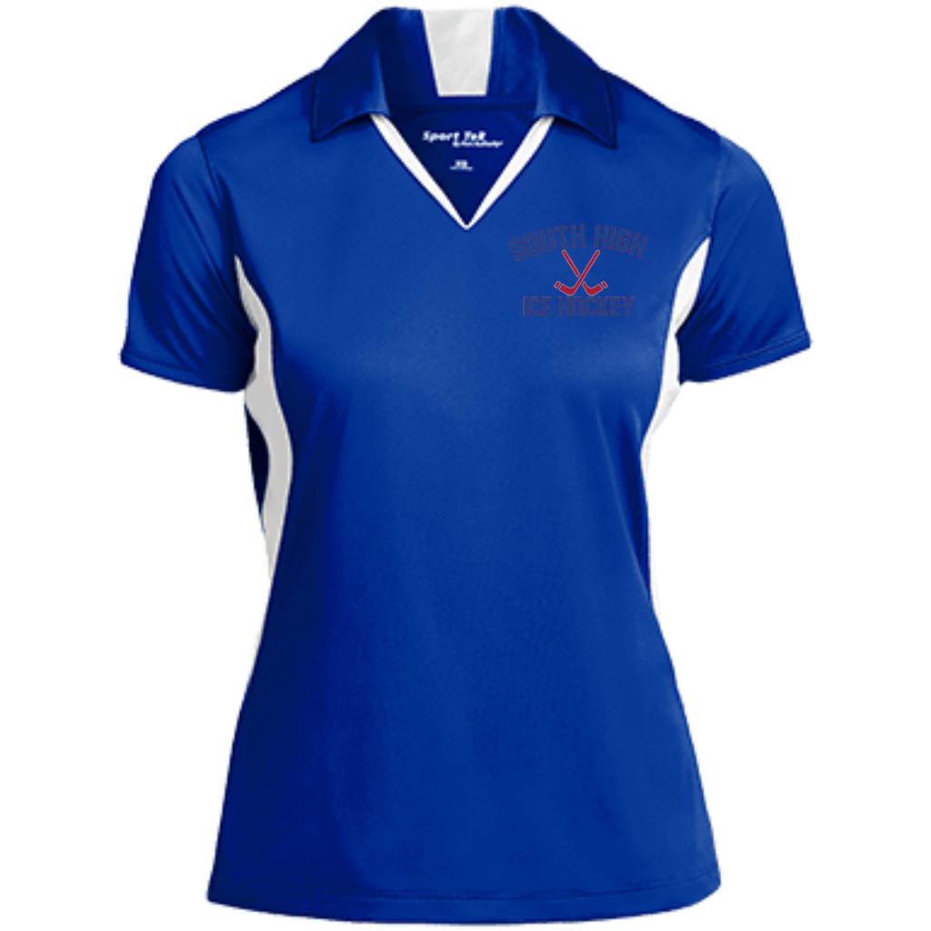 Women's Moisture Wicking Polo - South Glens Falls Ice Hockey