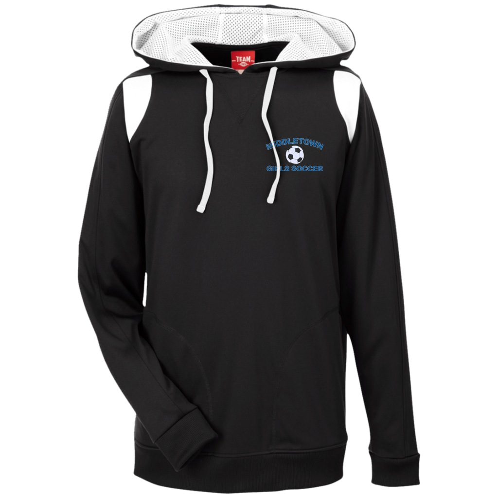 Men's Colorblock Hooded Sweatshirt - Middletown Girls Soccer