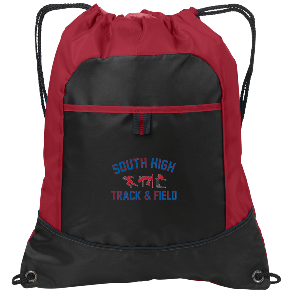 Drawstring Bag with Pocket - South Glens Falls Track & Field