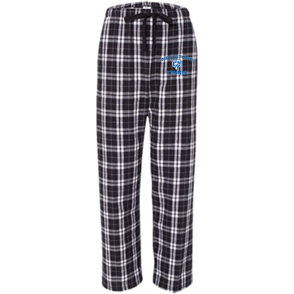 Youth Flannel Pants - Middletown Tennis - Bear Logo