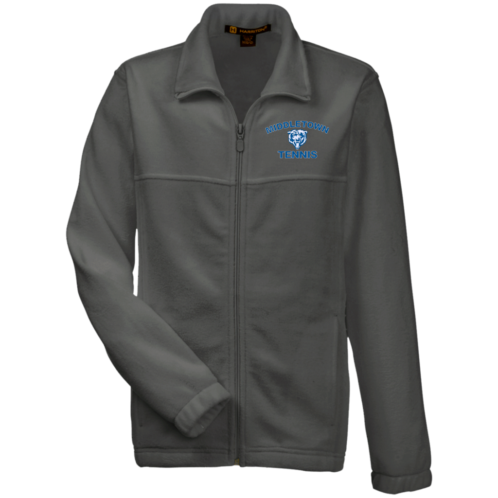 Youth Full-Zip Fleece - Middletown Tennis - Bear Logo