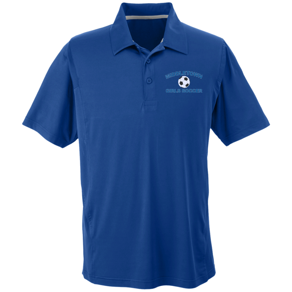 Men's Solid Moisture Wicking Polo - Middletown Girls Soccer