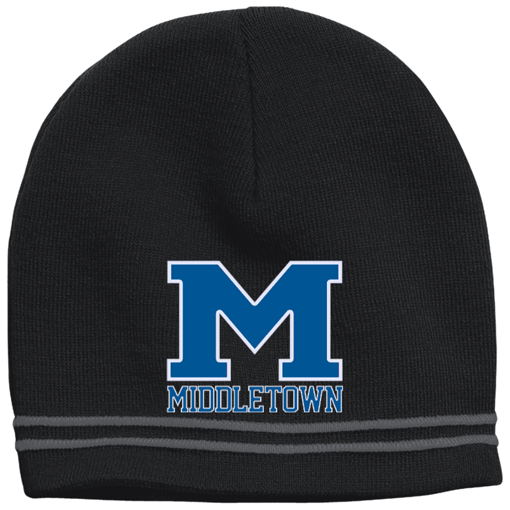"Colorblock Beanie - Middletown ""M"""