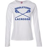Women's Long Sleeve T-Shirt - Middletown Girls Lacrosse - Sticks Logo