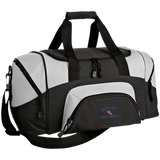 X-Country Vector Logo Outline_Pantone BG990S Port & Co. Small Colorblock Sport Duffel Bag