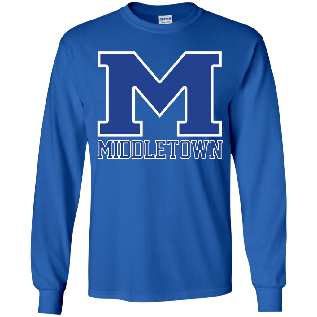"Youth Long Sleeve T-Shirt - Middletown ""M"""