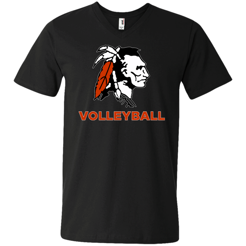 Men's V-Neck T-Shirt - Cambridge Volleyball - Indian Logo