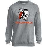Youth Crewneck Sweatshirt - Cambridge Volleyball - Indian Logo