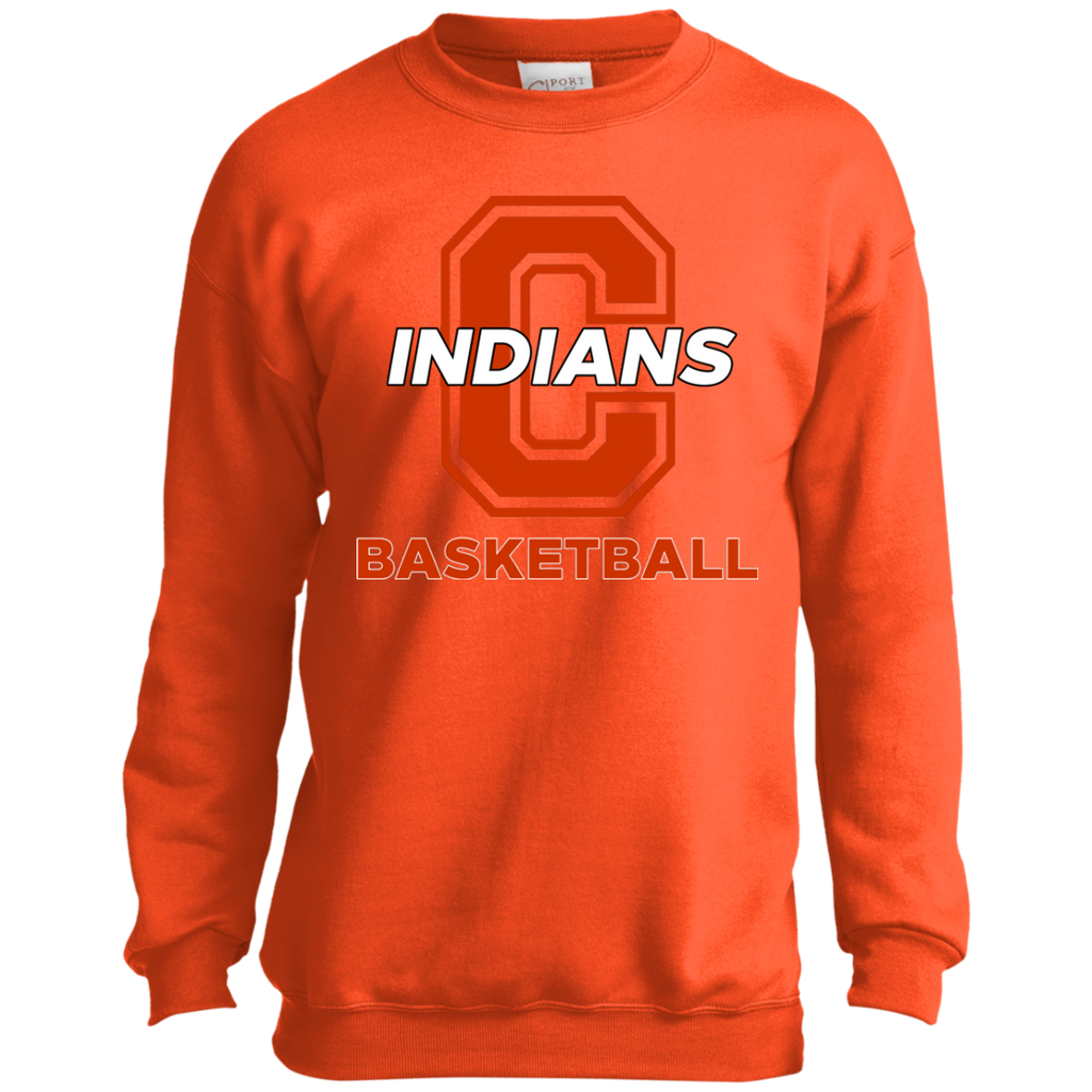 Youth Crewneck Sweatshirt - Cambridge Basketball - C Logo