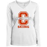 Women's Moisture Wicking Long Sleeve T-Shirt - Cambridge Skiing - C Logo