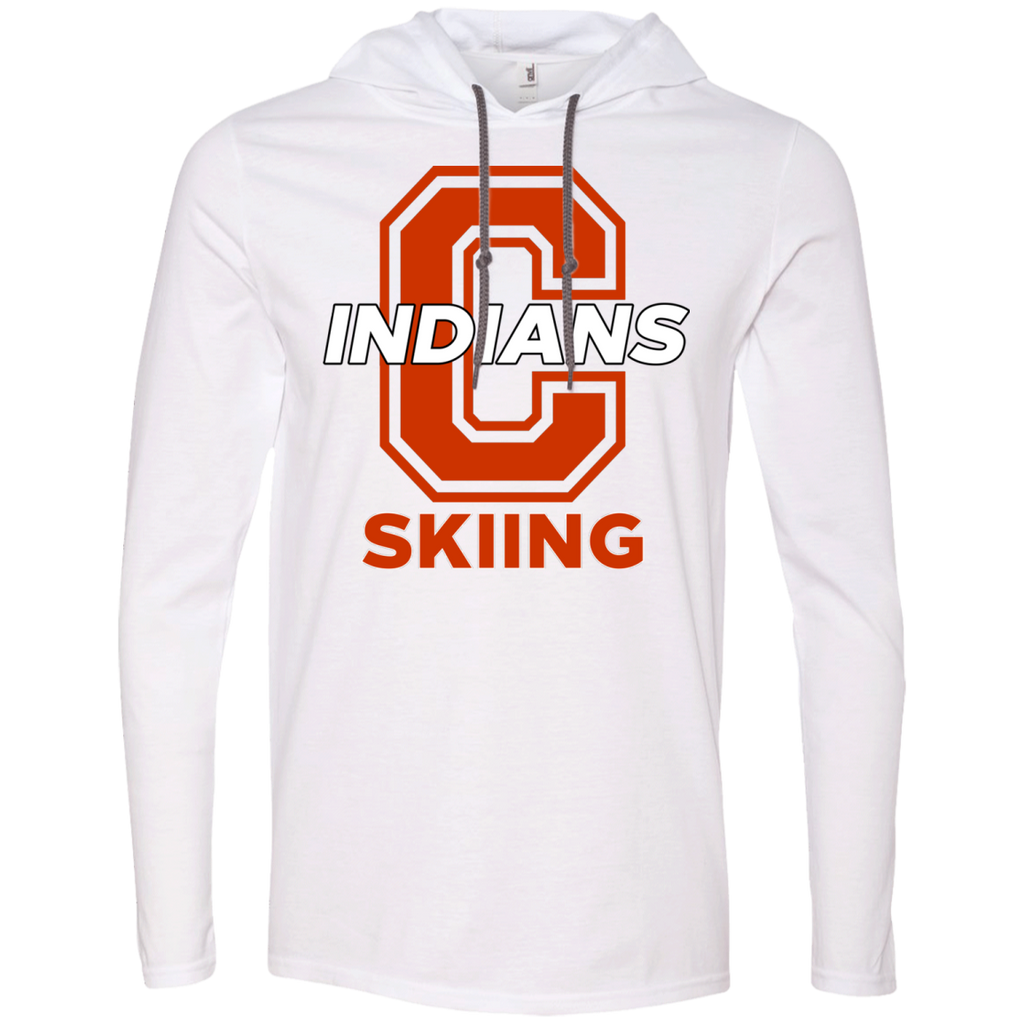 Men's T-Shirt Hoodie - Cambridge Skiing - C Logo