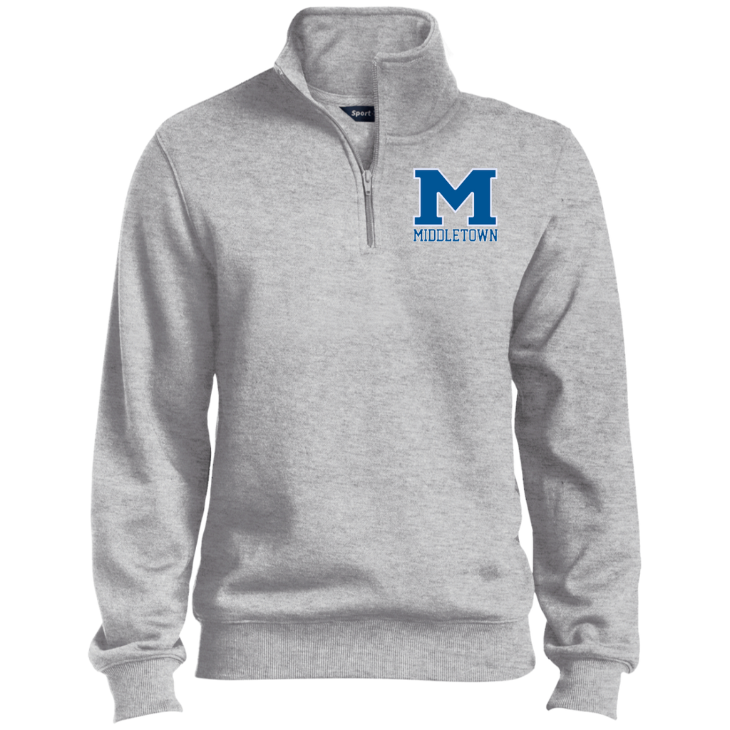 "Men's Quarter Zip Sweatshirt - Middletown ""M"""