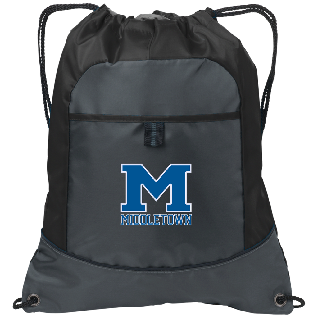 "Drawstring Bag with Pocket - Middletown ""M"""
