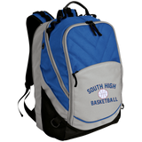 Basketball Vector Logo Outline_Pantone BG100 Port Authority Laptop Computer Backpack