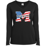 Women's Moisture Wicking Long Sleeve T-Shirt - Middletown American Flag