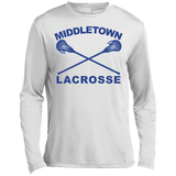 Men's Moisture Wicking Long Sleeve T-Shirt - Middletown Girls Lacrosse - Sticks Logo