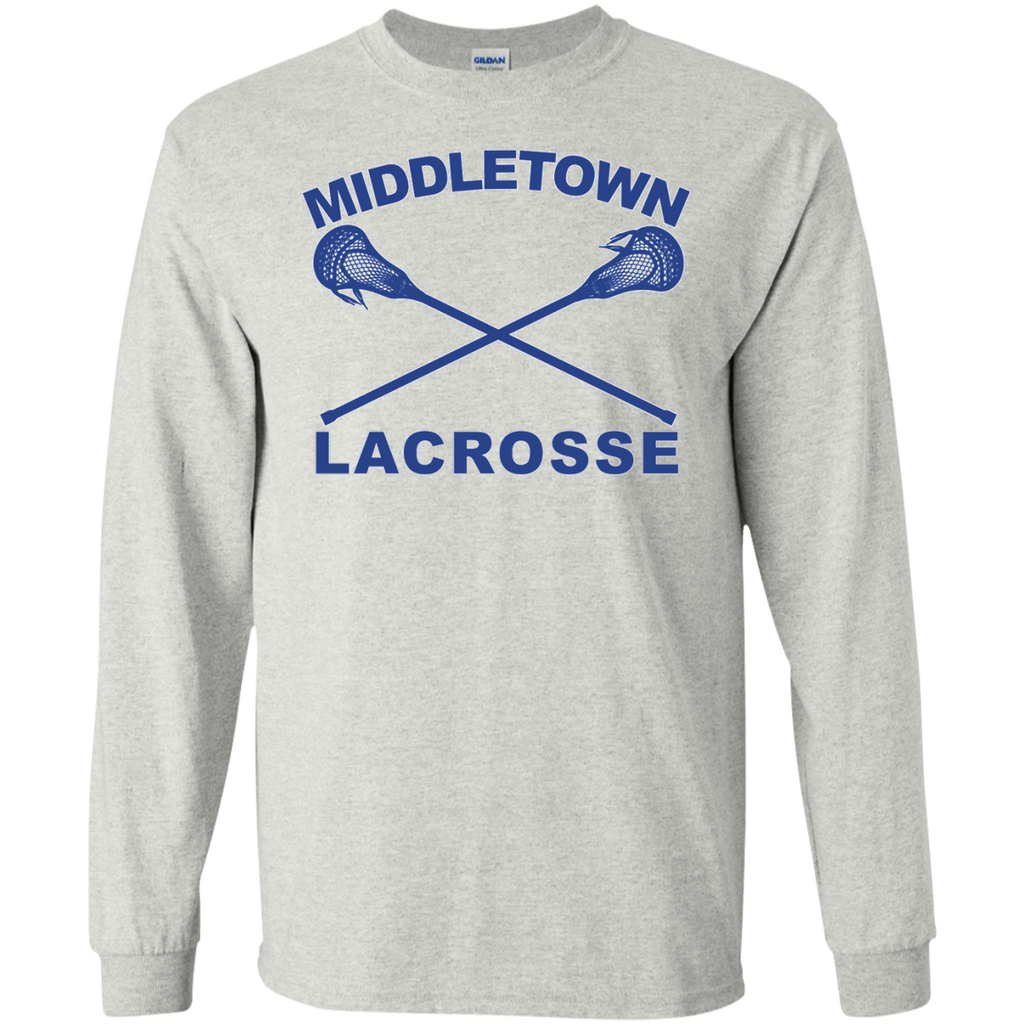 Men's Long Sleeve T-Shirt - Middletown Girls Lacrosse - Sticks Logo