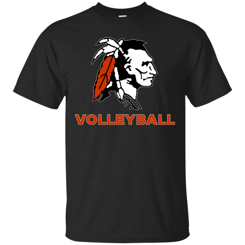 Men's Cotton T-Shirt - Cambridge Volleyball - Indian Logo