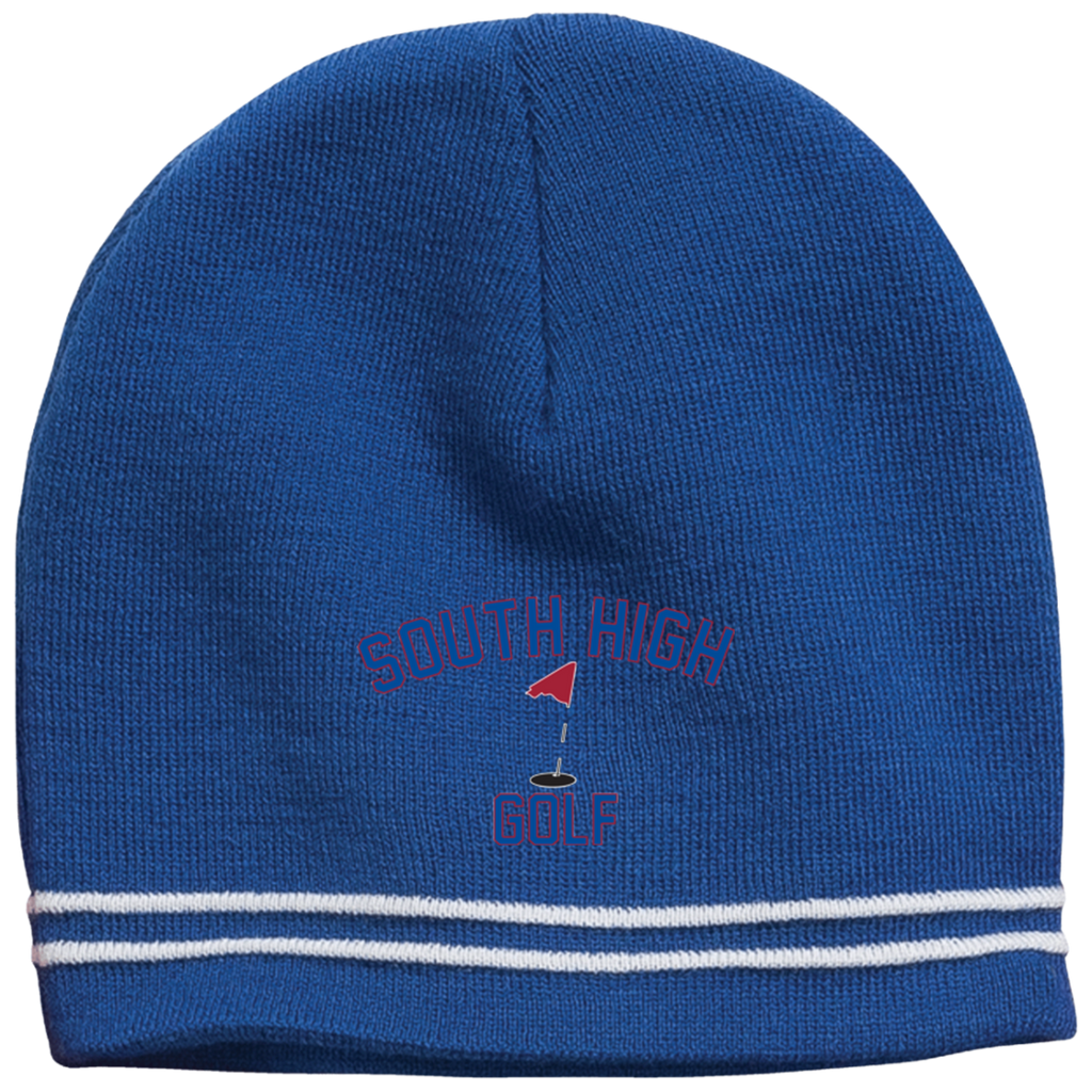 Colorblock Beanie - South Glens Falls Golf