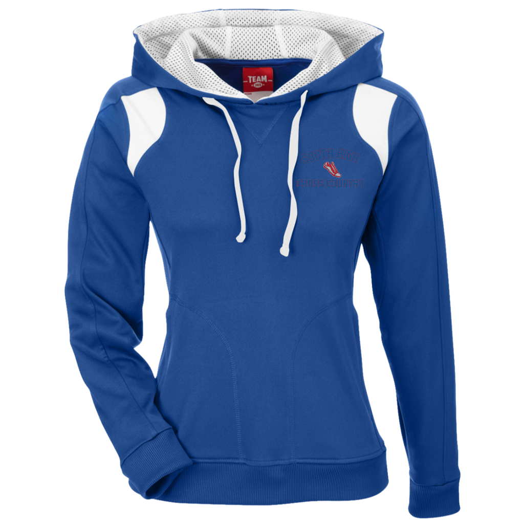 Women's Colorblock Hooded Sweatshirt - South Glens Falls Cross Country