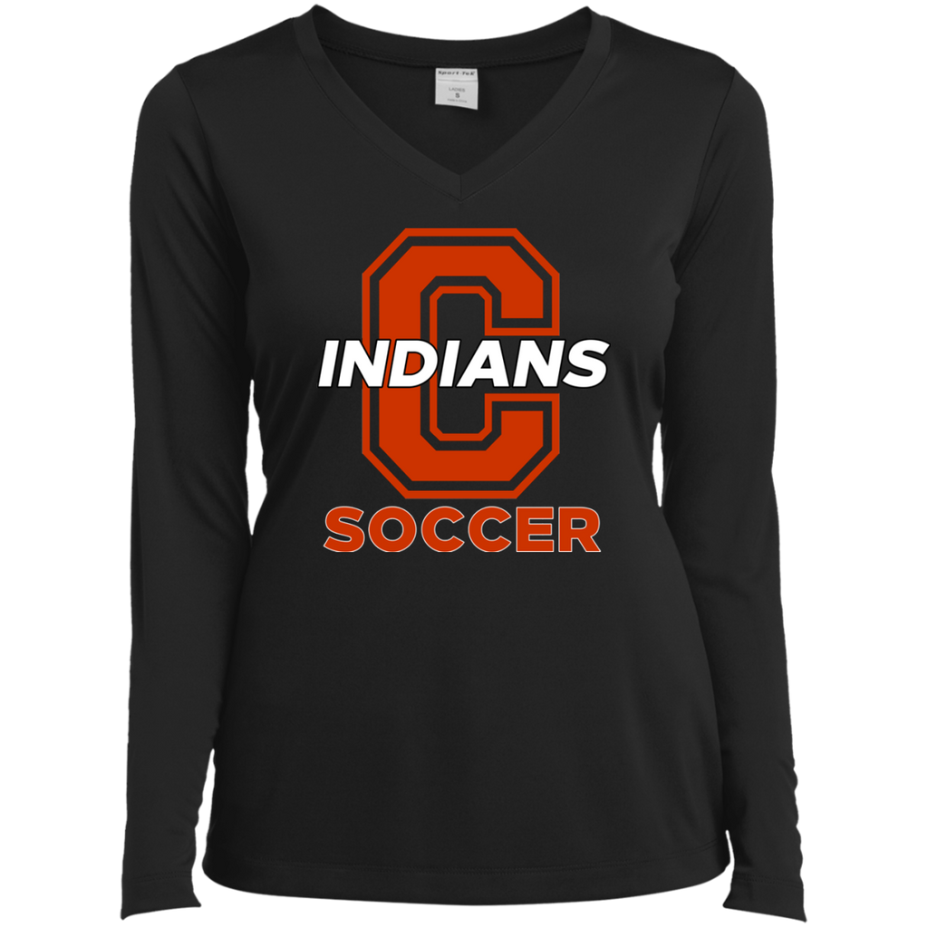 Women's Moisture Wicking Long Sleeve T-Shirt - Cambridge Soccer - C Logo