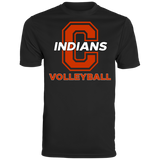Men's Moisture Wicking T-Shirt - Cambridge Volleyball - C Logo