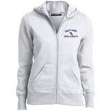 X-Country Vector Logo Outline_Pantone L265 Sport-Tek Ladies' Full-Zip Hoodie