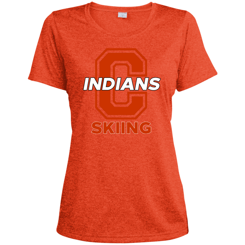 Women's Heather Moisture Wicking T-Shirt - Cambridge Skiing - C Logo