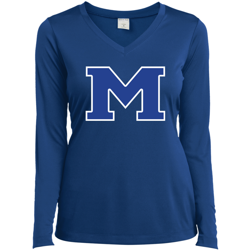 "Women's Moisture Wicking Long Sleeve T-Shirt - Middletown Block ""M"""