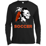 Men's Moisture Wicking Long Sleeve T-Shirt - Cambridge Soccer - Indian Logo