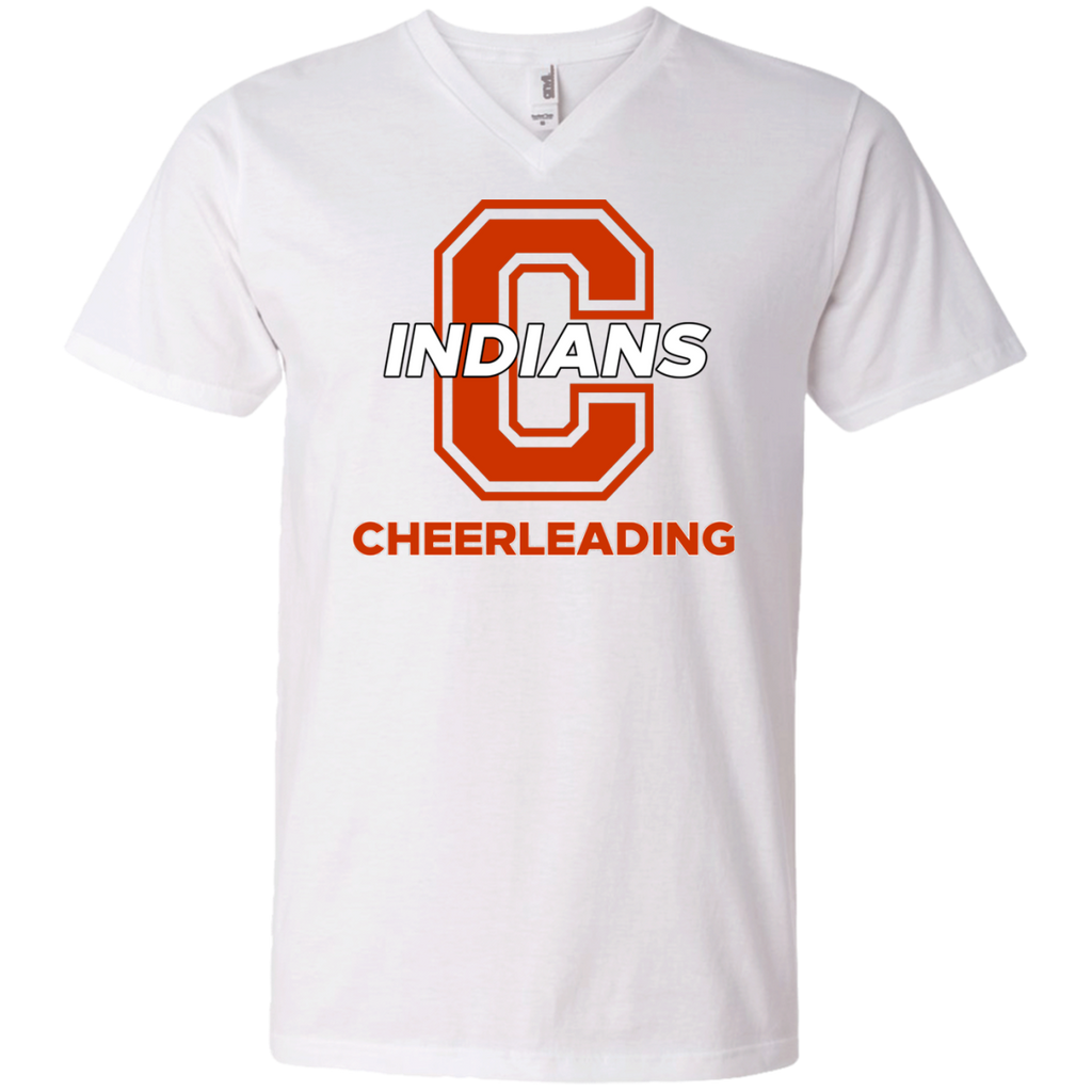Men's V-Neck T-Shirt - Cambridge Cheerleading - C Logo