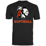 Men's Moisture Wicking T-Shirt - Cambridge Softball - Indian Logo