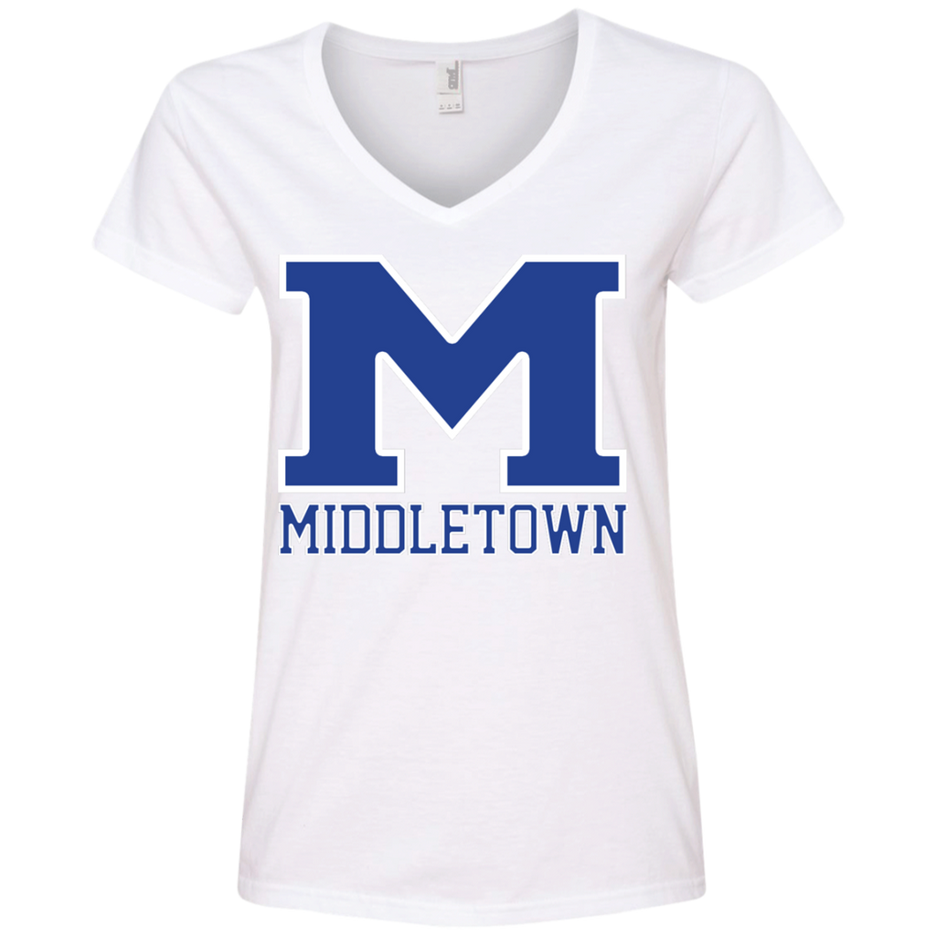 "Women's V-Neck T-Shirt - Middletown ""M"""
