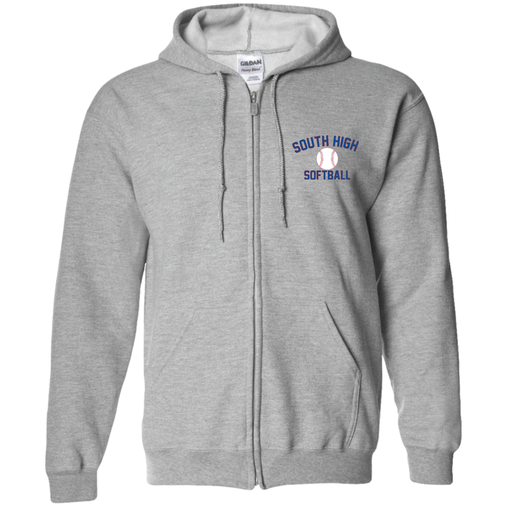 Men's Full-Zip Hooded Sweatshirt - South Glens Falls Softball