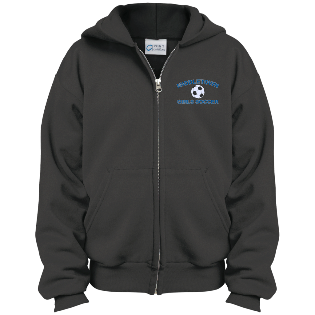 Youth Full-Zip Hooded Sweatshirt - Middletown Girls Soccer