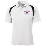Men's Colorblock Slim Fit Moisture Wicking Polo - South Glens Falls Volleyball