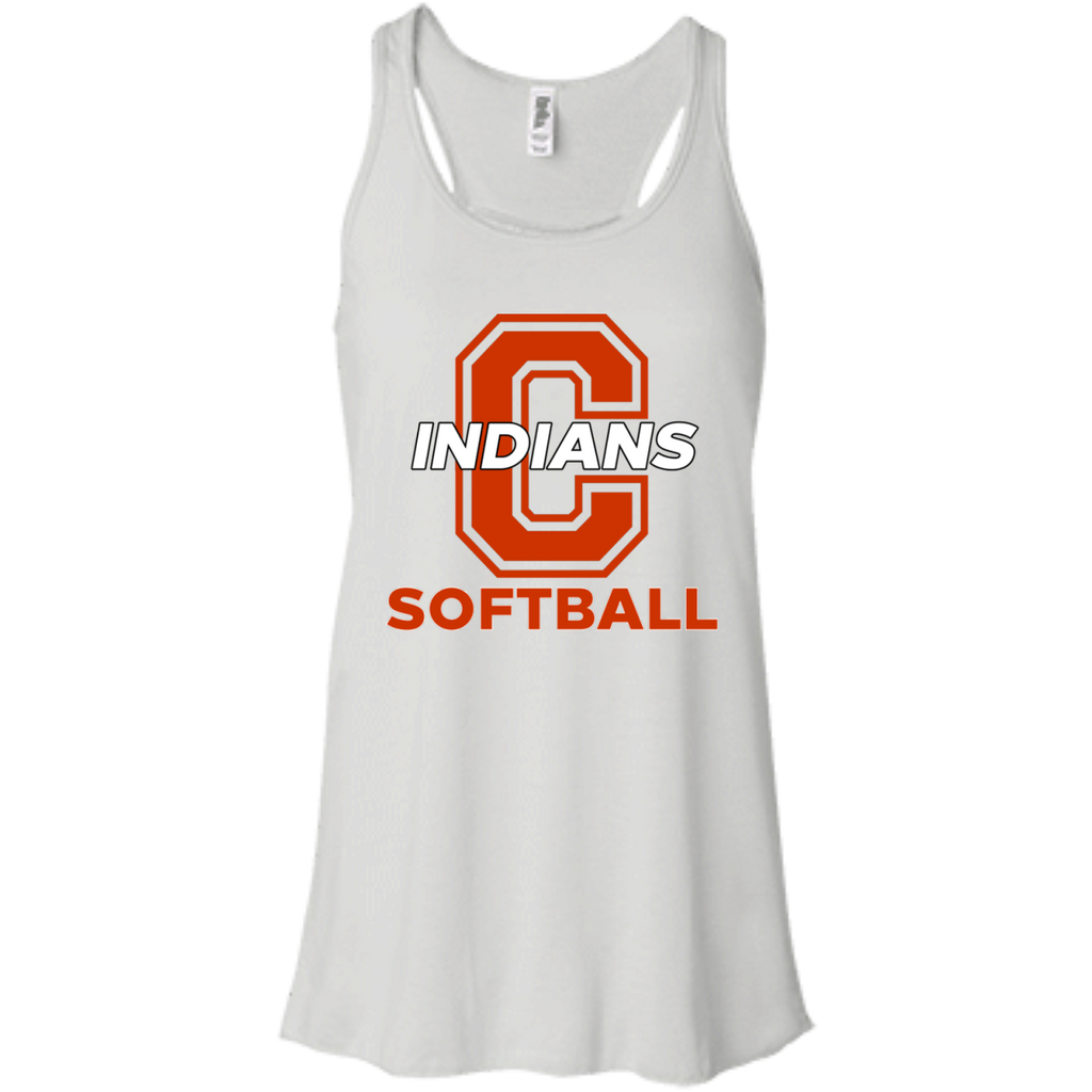 Women's Racerback Tank Top - Cambridge Softball - C Logo